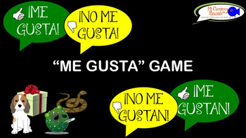 """""""¡ME GUSTA!"""" Spanish Game (Interactive Q&A Game)"""