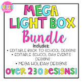 *MEGA BUNDLE*  School Light Box Designs -- Over 230 Designs!