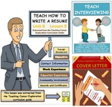 MEGA BUNDLE Teach students how to write a cover letter, resume & interview