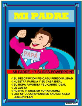 """""""MI PADRE"""" Power Point Presentation- Great for Father's Day """" Bagels con Papá"""""""