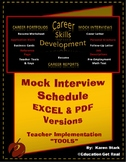 """""""MOCK INTERVIEW SCHEDULE"""" -- STAGE #4 - """"Mock Interview Day Activity"""""""