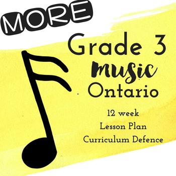 *MORE* Grade 3 *MUSIC* Lesson Plans Jan-June