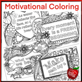 {MOTIVATIONAL COLORING PAGES} {RELIGIOUS COLORING} {MOTIVATIONAL QUOTES}