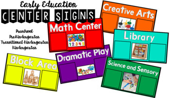 *MULTI-USE* Center Signs for Preschool Pre-Kindergarten Dramatic Play Block Area