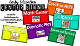 *MULTI-USE* Center Signs for Preschool Pre-Kindergarten Dr