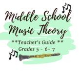 *MUSIC* THEORY BUNDLE- Teacher's Guide Grades 5,6,7