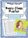 *MUST-HAVE* Basic Class Roster!