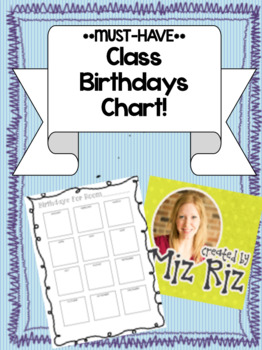 *MUST-HAVE* Class Birthday Chart!