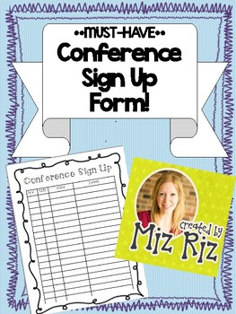 *MUST-HAVE* Conference Sign Ups!