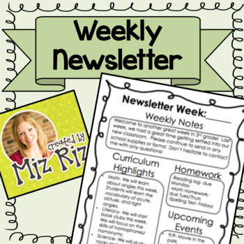 **MUST HAVE**  Weekly Newsletter Template!