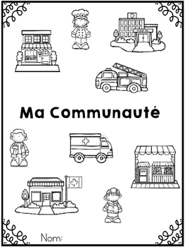 {Ma Communauté} A French workbook about places in the community
