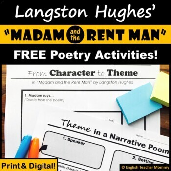 """""""Madam and the Rent Man"""" (Langston Hughes) Poem Characterization and Theme"""
