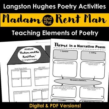 """Madam and the Rent Man"" - Langston Hughes Poem Activities"