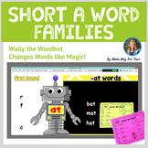 Short A Word Family Activities | Short Vowel Word Family Flipchart and Printable