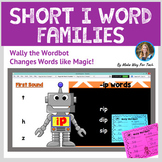 Short I Word Family Activities | Short Vowel Word Family Flipchart and Printable