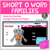 Short O Word Family Activities | Short Vowel Word Family Flipchart and Printable