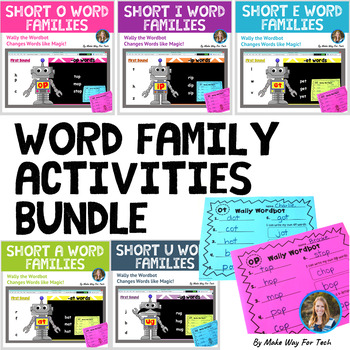 Wally the Wordbot Short Vowel Word Family BUNDLE