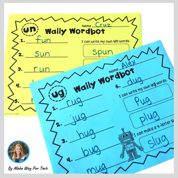Wally the Wordbot Short Vowel Word Family BUNDLE