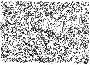 'Magical' coloring sheet