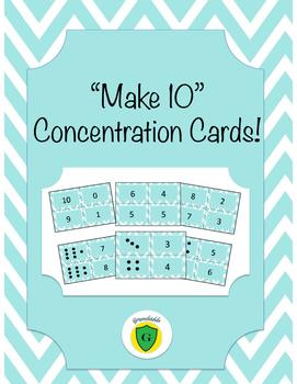 """Make 10"" Concentration Cards"