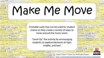 """Make Me Move"" Cards"