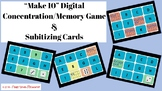 Math Facts to 10 Memory/Concentration Game - Digital Make 10