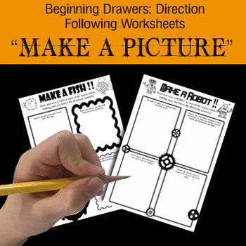 """Make a ___"" Bundle of 17 Drawing Activities! Fine Motor & Visual Motor Training"
