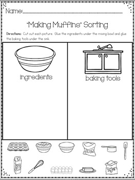 """""""Making Muffins"""" A May/Spring Emergent Reader and Response Dollar Deal"""