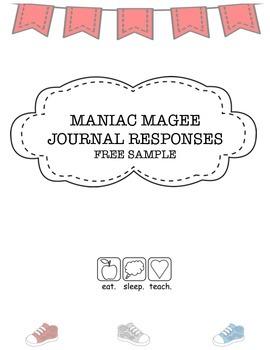 """""""Maniac Magee"""" Journal Response {Free Sample}"""