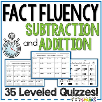 Fast Facts Addition and Subtraction Fluency Quizzes