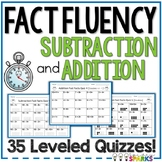 Addition and Subtraction Fact Fluency Quizzes