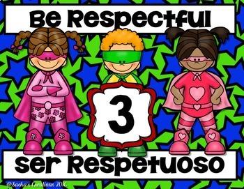Super Hero Rules Spanish , English & Bilingual
