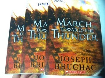 """March Toward the Thunder"" books, by Joseph Eruchec - Literature Circle Set"