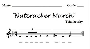 """""""March"""" theme from the Nutcracker for Glockenspiels/Xylophones"""