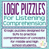Logic Puzzles for Listening Comprehension for SLPs (Upper Level)