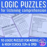 Logic Puzzles for Listening Comprehension for SLP (Upper Level)