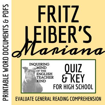 """Mariana"" by Fritz Leiber - Quiz & Key"