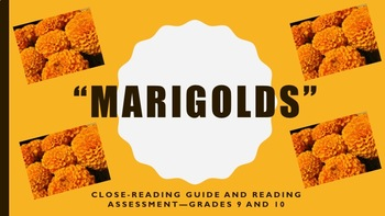 """Marigolds"" Close-reading Guide and Reading Assessment—Gra"