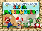 ▶️Mario Adventure Game - Shapes and Colors Practice - Grades K-1 - PowerPoint