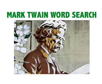 Mark Twain Word Search