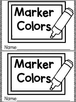"""Marker Colors"" (Fall/September Emergent Reader Dollar Deal)"