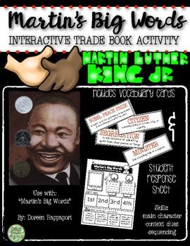 """Martin's Big Words"" Trade Book Activity"