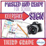 """First Day of School Sign, """"Masked and Ready for School,"""" T"""