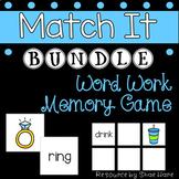 {Match It BUNDLE} Word Work [Reading] Phonics Station Lite