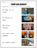 """Match Sentences to Pictures"" – 10 Worksheets for Beginning Readers (Spanish)"