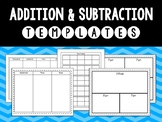 {Math} Addition and Subtraction Tools & Templates!