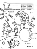 """Math Doubles"" Winter Coloring Sheet {MrsBrown.Art}"