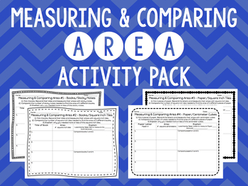 {Math} Measuring & Comparing AREA Activity Pack!