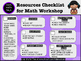 {Math Workshop} Resources List FREEBIE!