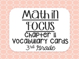 """""""Math in Focus"""" Vocabulary Cards 3rd Grade Chapter 11 (Measurement)"""